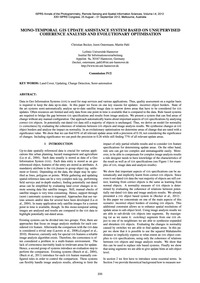Mono-temporal Gis Update Assistance Syst... by Becker, C.