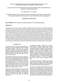 Evaluation of Aster Images for Character... by Markoski, P. R.