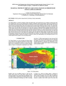 Seasonal Trends in Tibetan Lake Level Ch... by Phan, V. H.