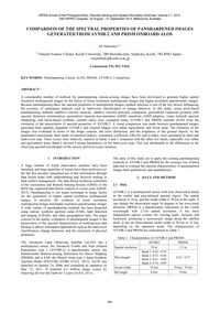 Comparison of the Spectral Properties of... by Matsuoka, M.