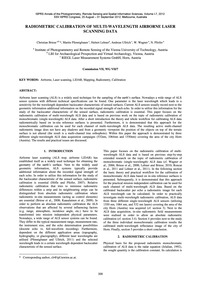 Radiometric Calibration of Multi-wavelen... by Briese, C.