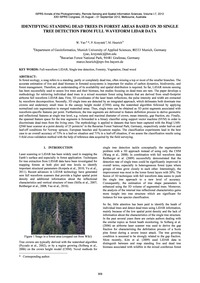 Identifying Standing Dead Trees in Fores... by Yao, W.