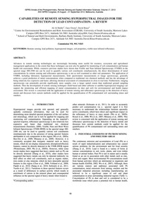 Capabilities of Remote Sensing Hyperspec... by Maliki, A. A.