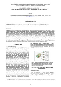 Soil Spectral Imaging: Moving from Proxi... by Dor, E. B.