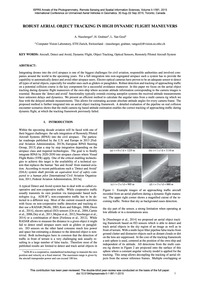 Robust Aerial Object Tracking in High Dy... by Nussberger, A.