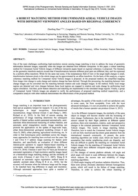 A Robust Matching Method for Unmmaned Ae... by Shao, Z.
