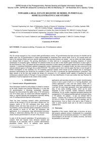 Towards a Real Estate Registry 3D Model ... by De Almeida, J.-p.
