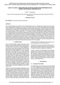 Lod 1 Vs. Lod 2 – Preliminary Investigat... by Ellul, C.