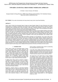 Towards a 3D Spatial Urban Energy Modell... by Bahu, J.-m.