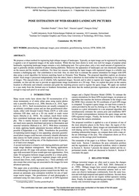 Pose Estimation of Web-shared Landscape ... by Produit, T.