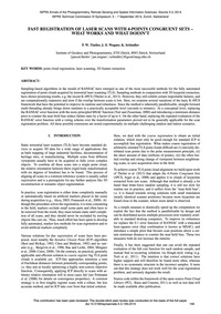 Fast Registration of Laser Scans with 4-... by Theiler, P. W.