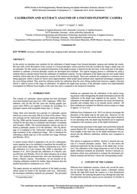 Calibration and Accuracy Analysis of a F... by Zeller, N.