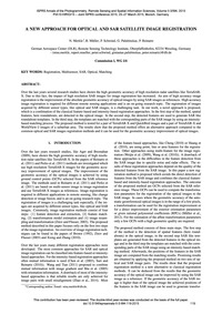 A New Approach for Optical and Sar Satel... by Merkle, N.