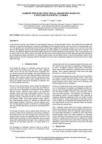 Narrow Field-of-view Visual Odometry Bas... by Zeller, N.