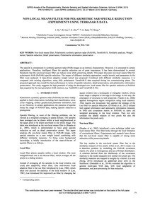 Non-local Means Filter for Polarimetric ... by Hu, J.