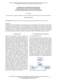 A Representation-driven Ontology for Spa... by Hangouët, J.-f.