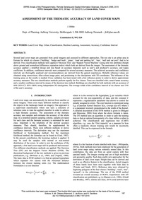 Assessment of the Thematic Accuracy of L... by Höhle, J.