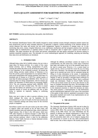 Data Quality Assessment for Maritime Sit... by Iphar, C.