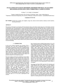 Evaluation of Wavelet Denoising Methods ... by Bitenc, M.
