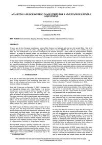 Analyzing a Block of Hrsc Image Strips f... by Bostelmann, J.