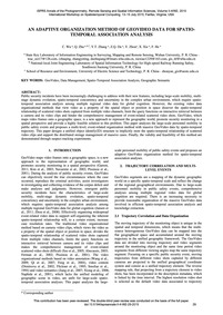 An Adaptive Organization Method of Geovi... by Wu, C.