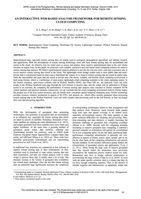 An Interactive Web-based Analysis Framew... by Wang, X. Z.