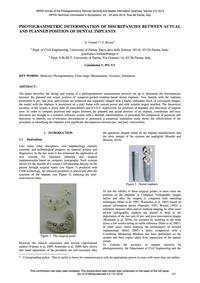 Photogrammetric Determination of Discrep... by Forlani, G.
