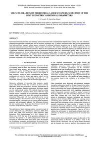 Self-calibration of Terrestrial Laser Sc... by Lerma, J. L.