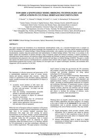 Towards a Knowledge Model Bridging Techn... by Boochs, F.