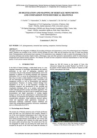 3D Digitization and Mapping of Heritage ... by Fiorillo, F.