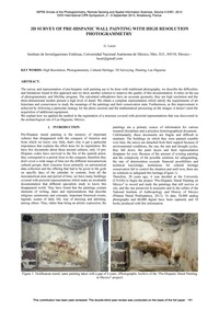 3D Survey of Pre-hispanic Wall Painting ... by Lucet, G.
