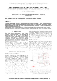 Analysis of the Factors Affecting 3D Mod... by Tucci, G.