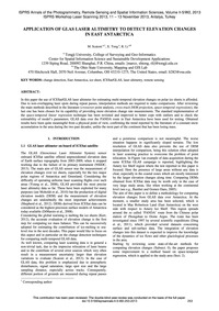 Application of Glas Laser Altimetry to D... by Scaioni, M.