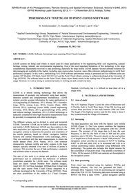 Performance Testing of 3D Point Cloud So... by Varela-gonzález, M.