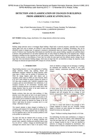 Detection and Classification of Changes ... by Xu, S.
