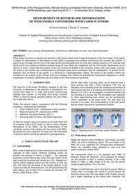 Measurement of Rotor Blade Deformations ... by Grosse-schwiep, M.