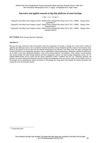 Innovative and Applied Research on Big D... by Qiu, J.
