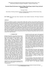 Parameter-based Performance Analysis of ... by Kavzoglu, T.