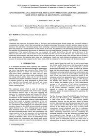 Spectroscopic Analysis of Soil Metal Con... by Shamsoddini, A.