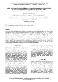 Spatial and Temporal Variation of Japane... by Verma, S.
