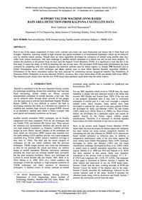 Support Vector MacHine (Svm) Based Rain ... by Upadhyaya, S.