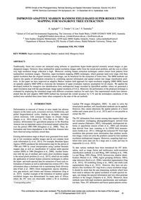 Improved Adaptive Markov Random Field Ba... by Aghighi, H.