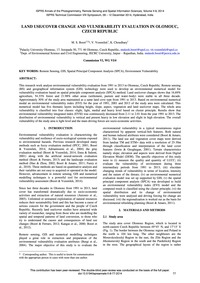 Land Use / Cover Change and Vulnerabilit... by Boori, M. S.