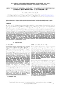 Effectiveness of Spectral Similarity Mea... by Chauhan, H.
