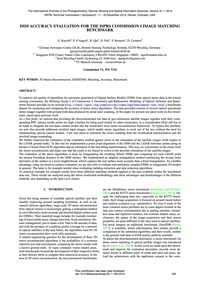 Dsm Accuracy Evaluation for the Isprs Co... by Kuschk, G.