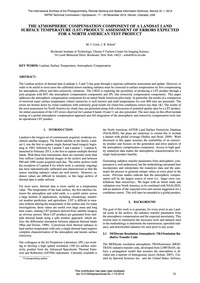The Atmospheric Compensation Component o... by Cook, M. J.
