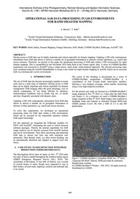 Operational Sar Data Processing in Gis E... by Meroni, A.