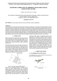 Geometric Correction of Airborne Linear ... by Wang, M.