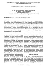 Uav Application in Post – Seismic Enviro... by Baiocchi, V.