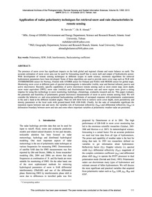 Application of Radar Polarimetry Techniq... by Darvishi, M.